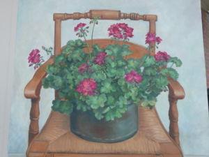 Geranium on Chair